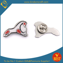 Best quality horse shape printing pin badge custom metal pin badges for gifts