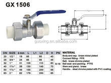 equal ppr brass ball valve,ppr pipr union fitting joint double brass ball valve