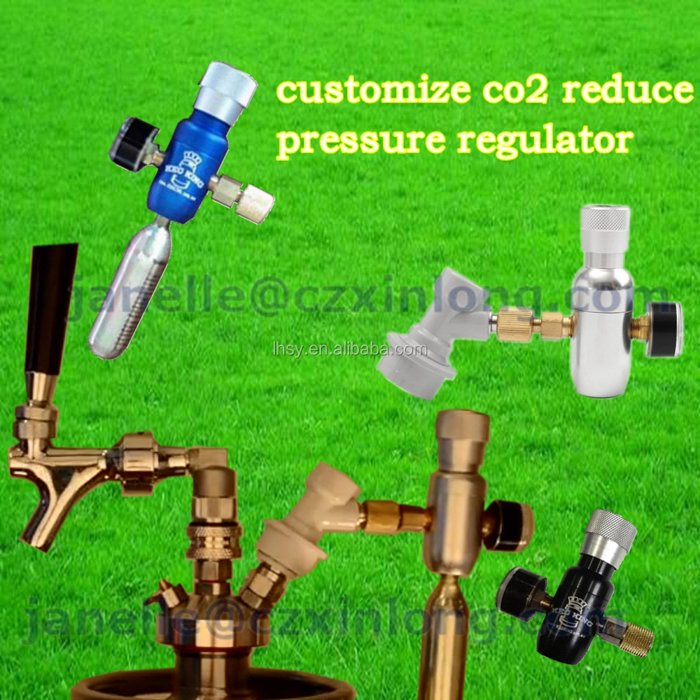 homebrew kegging,Premium Regulated CO2 Charger with ball lock fitting,mini CO2 Regulator 0-60psi Home Brew Premium Regulated Co2