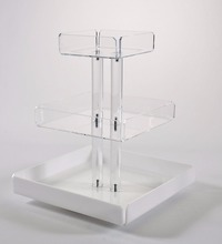 retail store use clear acrylic food display trays/food riser/food rack