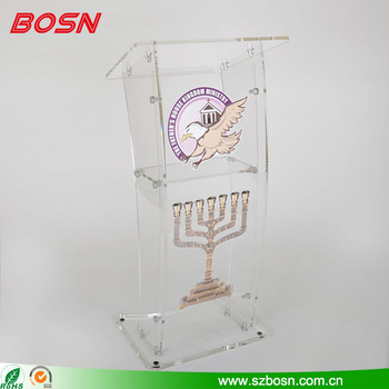 Acrylic Podium Pulpit Lectern with OEM/ODM available