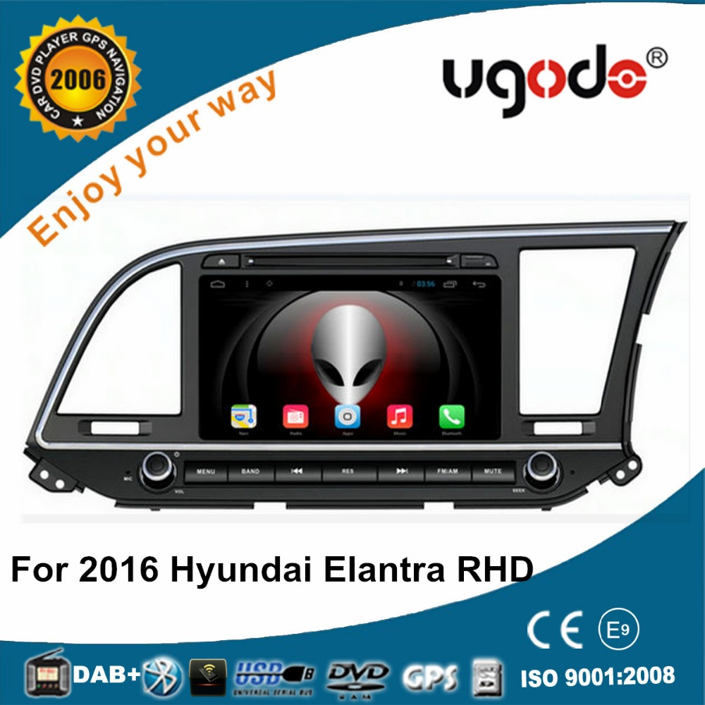 Factory android touch screen car dvd gps for 2016 Hyundai new elantra RHD