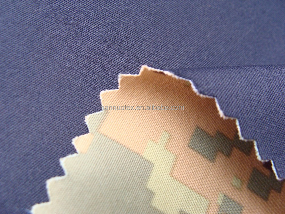 Shaoxing Waterproof Camouflage Printing Woven Nylon Fabric Bonded Polyester Knit Fabric For Jacket