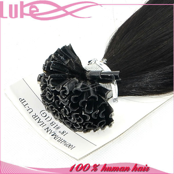 New Style Top Grade 100% Human Hair Extension, Wholesale Human U-Tip Rebound Hair