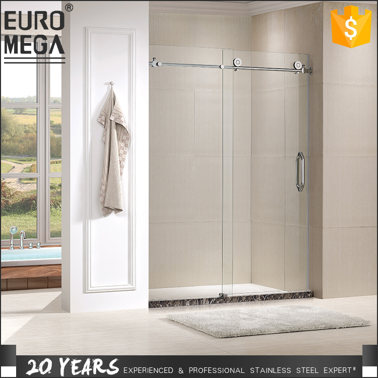 Professional Material and After Sale Service Interior Frameless Shower bathroom sliding glass door