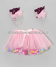 One Piece Girls Party Pettiskirt Pink Birthday Skirt