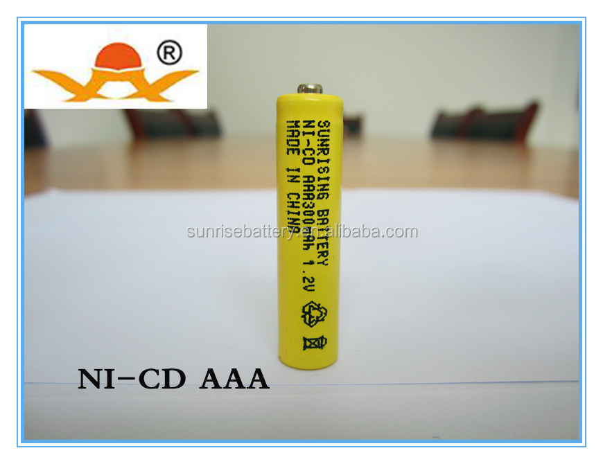 1.2v ni-cd aaa battery 300mah rechargeable battery