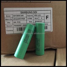 Bulk buy Authentic Samsung 25r 18650 battery Samsung INR18650-25R 20A continuous discharge 3.7v