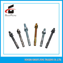 Concrete,block and brick yellow zinc plated wedge anchor ningbo supplier