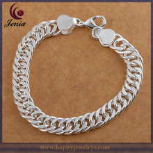 Fashion Design Brand Name 925 Silver Plated Imitation Jewelry Charm Bracelet (H102)