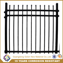 Hot dipped galvanized/powder coated cheap garden metal perimeter construction fence/ temporary fence designs