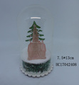 Wholesale cheap christmas glass decorated bauble with LED and house