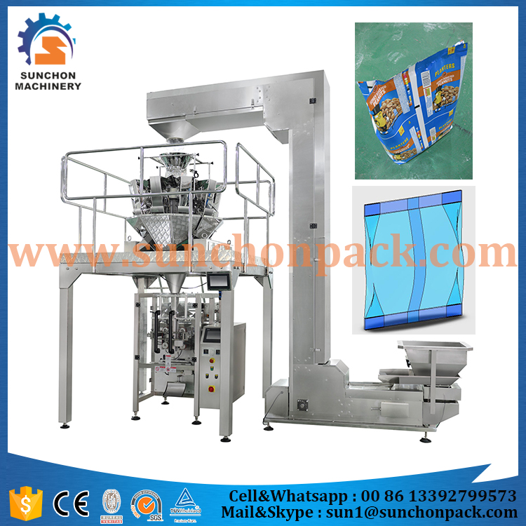 Vertical Automatic Snacks Packing Machine With 10 Heads Weigher