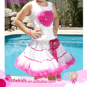 Cheap China Wholesale Bulk Kids Clothing Shirt And Pettiskirt Outfit Suppliers