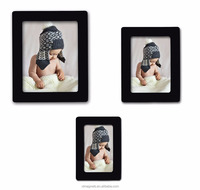 Family Black Magnetic Picture collage Frames refrigerator magnet picture frame for Refrigerator 4x 6'', 5 x 7'', 2.5 x 3''