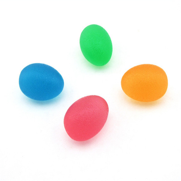 Wholesale portable Popular Wrist Hand Exerciser Egg shaped stress TPU ball for outdoor