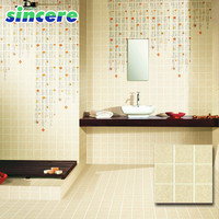 China Cheap Beige Villa Glazed Rustic Ceramic Floor Tile Wall Tile