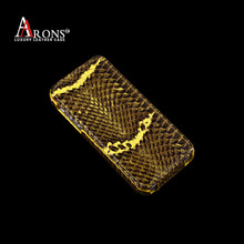 Genuine snake leather case flip cover for iphone 5s case