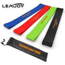 2017 Hot Sale Natural Latex Resistance Loop Bands Set of 4 for Ankle, Legs, Knee, or Arm Exercise