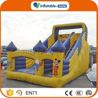 Super quality 2016 commercial inflatable slide kids happy top inflatable slide indoor