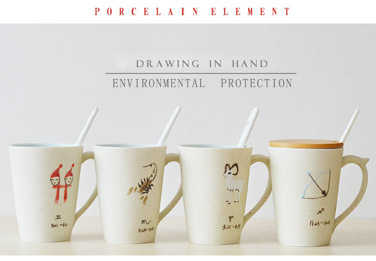 330ml twelve constellations hand painted ceramic tea mug