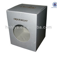 Ornament Paper Box With Plastic Window