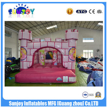 EN14960 Cheap Party Rental Pink Inflatable Jumping Castle bed Toys For Kids