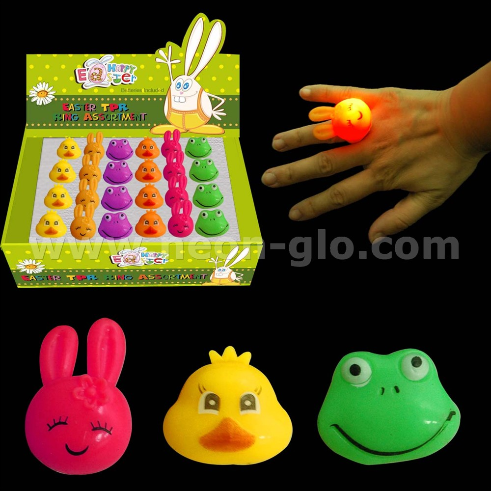 Easter jelly rings assortment (rabbit,chick ,frog),display packing decorated easter