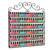 6 Tiers Metal Wire Wall Mounted Nail Polish Display Rack