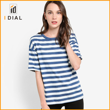 Latest Designers Elegant Casual Compression Srtripe T Shirts For Women