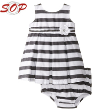 Striped Boutique Clothes Baby Girl Dress Set Toddler Girl Clothes