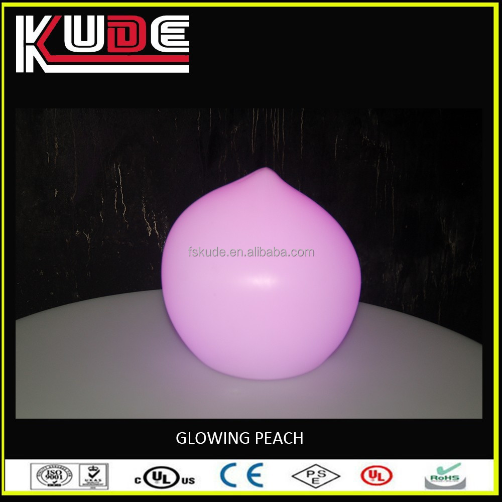 IP65 real peach shaped LED deco lamps design with remote control
