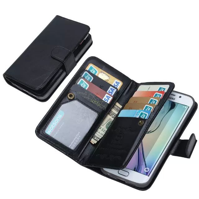 pu leather wallet bumper case for s7 edge samsung galaxy