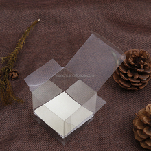 Square transparent plastic stickers boxes folding universal packing box Clear square party favor pvc box