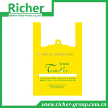 Yellow grocery shopping bag