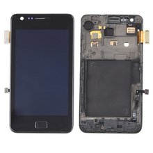 Lcd with touch screen replacement for samsung galaxy s2 i9210 lcd digitizer with bezel frame high quality