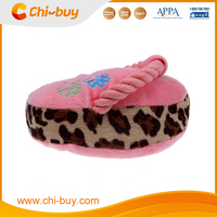 Pink Durable Suede Fabric Dog Toy Shoe with Squeaker Free Shipping on order 49usd
