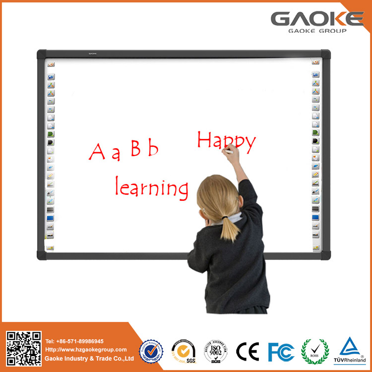 China made school use metal plate material magnetic interactive whiteboard