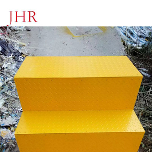 FRP 10mm thickness fiberglass molded stair steps grating