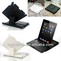 Cover Case with Swivel Rotary Stand Bluetooth Keyboard w/ Stylus for iPad 4/3/2