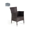 Stackable rattan outdoor furniture wicker dining retro garden restaurant chair