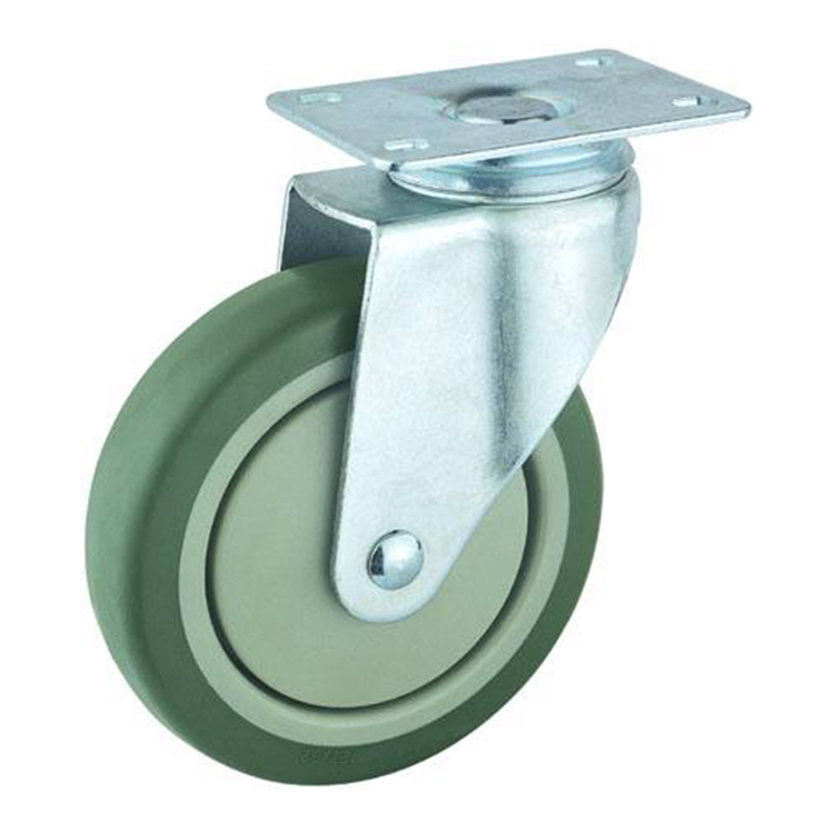 Double ball bearing quality pu caster