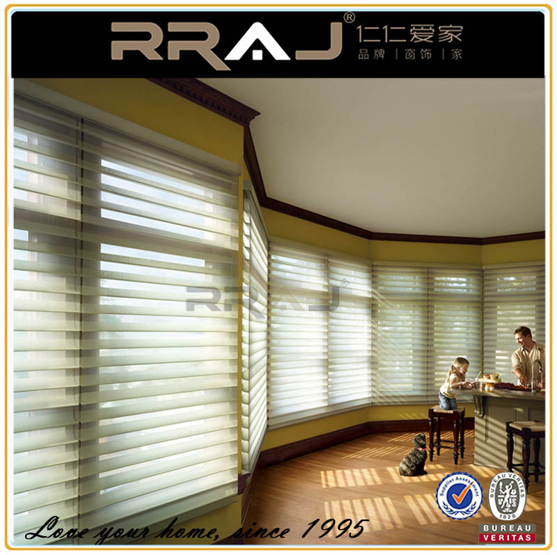 RRAJ Three Layer Venetian Shangrila Roller Blinds for Windows