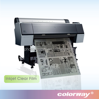 China Factory Price Clear Waterproof Inkjet Film for Screen Printing Plate-making Image Setting