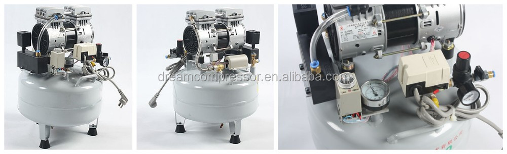 Dental Supplies Mini Silent Air Compressor Piston Compressor