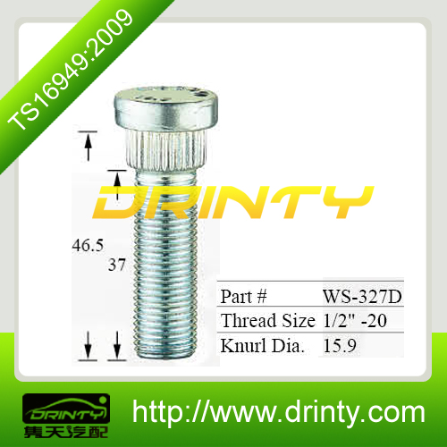 "Supply Thread1/2""-20 knurl Dia15.9mm wheel bolts for truck"