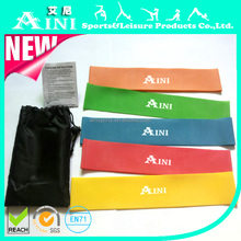 Colourful Fitness 5 Levels Latex Bands Cross Fit Latex Resistance Loop Band Sets for Sale