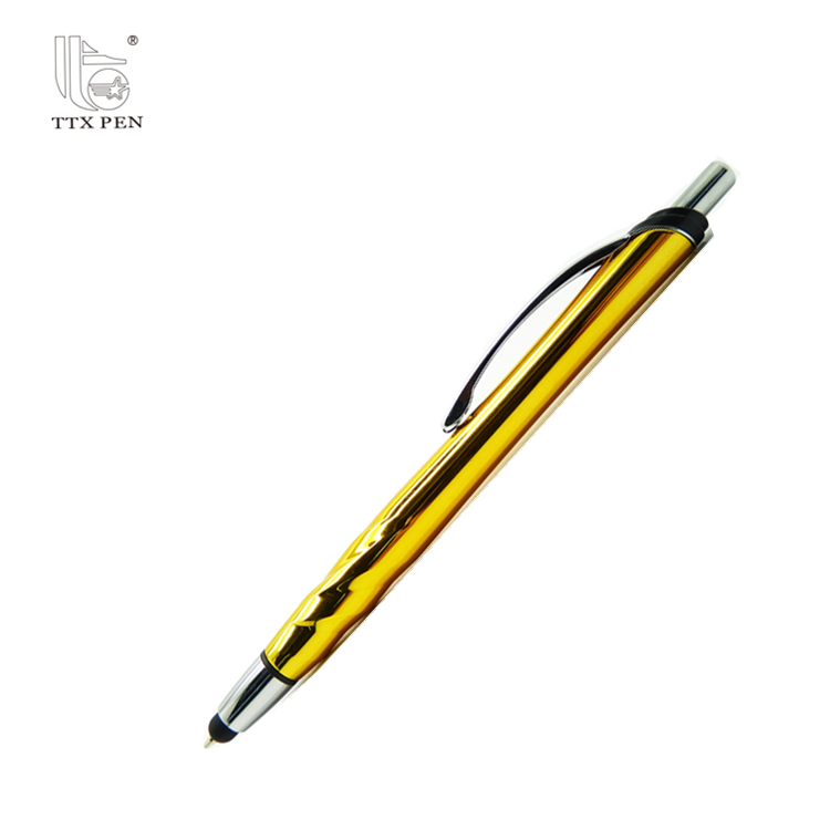 Metal body ballpoint pens for promotion gift touch screen ball pen for cell phone custom logo touch pen