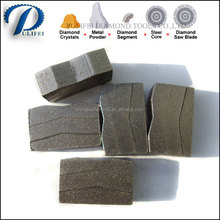 Pulifei Cold Press and Hot Sintered Machine Make Diamond Segment Granite Segment in Granite Cutting Segment Blade Machine