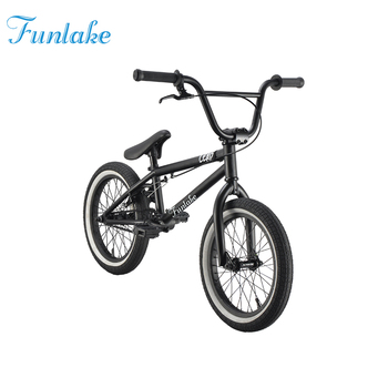 Funlake steel frame 16 inch high end mini stunt flatland street halfpipe bicycle custom freestyle bikes mini bmx bike